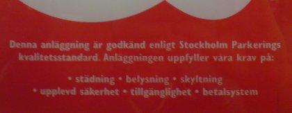 Stockholm Parkering har hög upplevd säkerhet