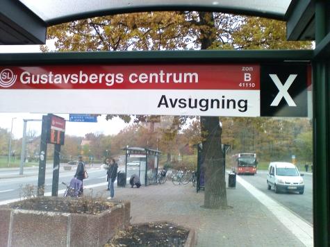 Intressant destination från hållplats X