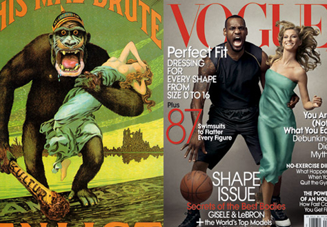 Vogue: LeBron och Gisele i King Kong-pose