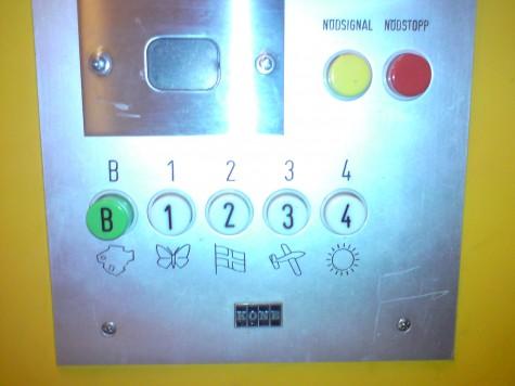 Hisspanel med mystisk symbol