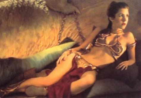Prinsessan Leia i guldbikini