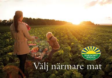 Välj närmare mat Svenskt Sigill