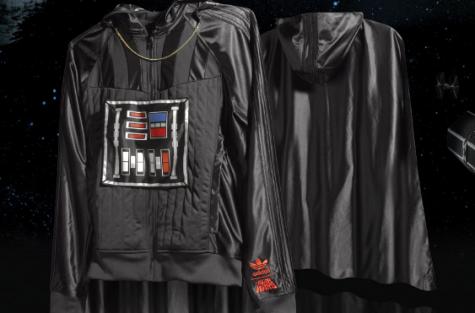 Darth Vader-jacka med huva, slängkappa och guldkedja