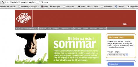 Budskap från Friskis & Svettis: Bli hög på gräs i sommar