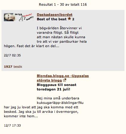 QX topplista över bloggar torsdag 22 juli 22:56