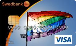 Bankkort med Prideflagga
