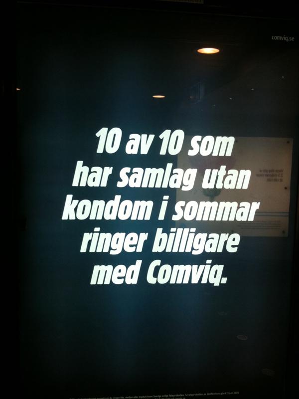 Comviqs annonser om kunder som knullar utan kondom