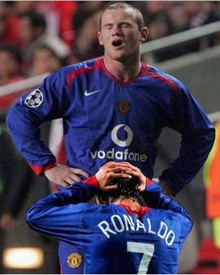 Rad bromance feat Ronaldo och Rooney
