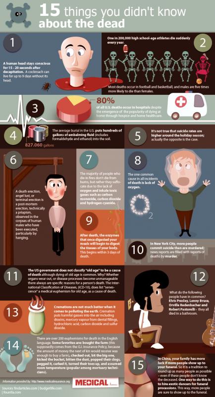 15 fakta om döden
