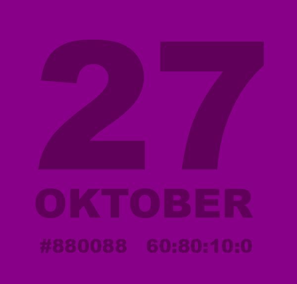 Bär något lila den 27 oktober för att säga något självklart