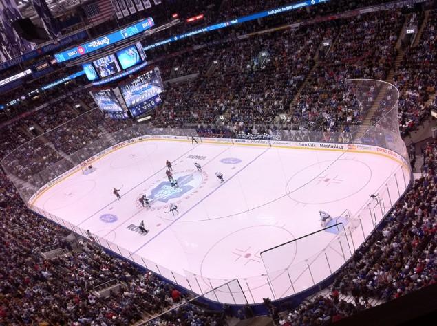 Hockeymatch på Air Canada Centre i Toronto