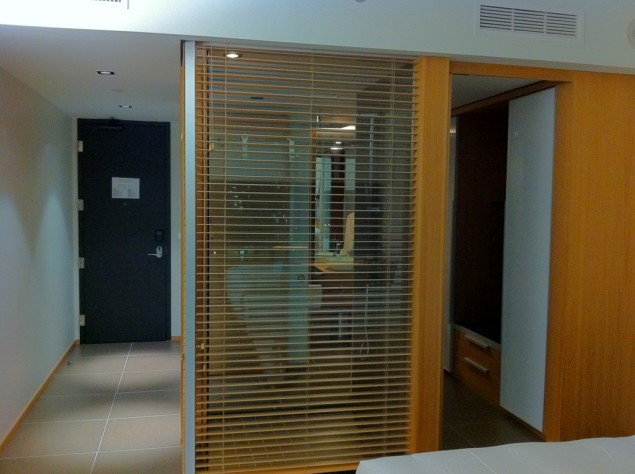 Dusch med utsikt på Le Germain