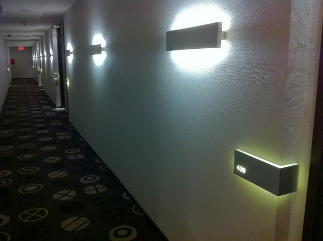 Korridor på Le Germain