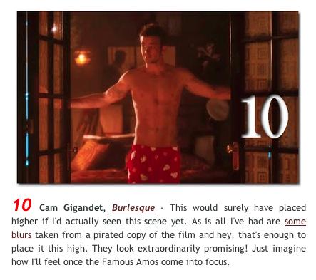 Cam Gigandet på tionde plats över snyggaste nakenscenerna 2010