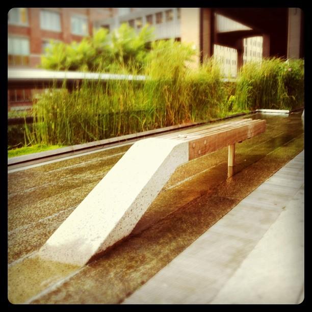 Japansk trädgård i High Line-park