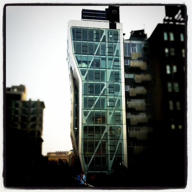 Byggnad nära High Line
