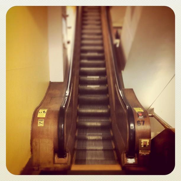 De gamla rulltrapporna på Macy's
