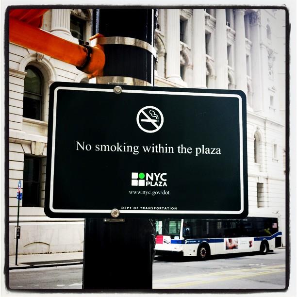 Ingen rökning i New Yorks parker sedan 23 maj
