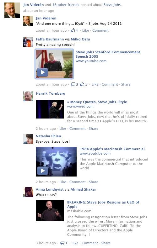 Facebook klustrar innehåll per ämne