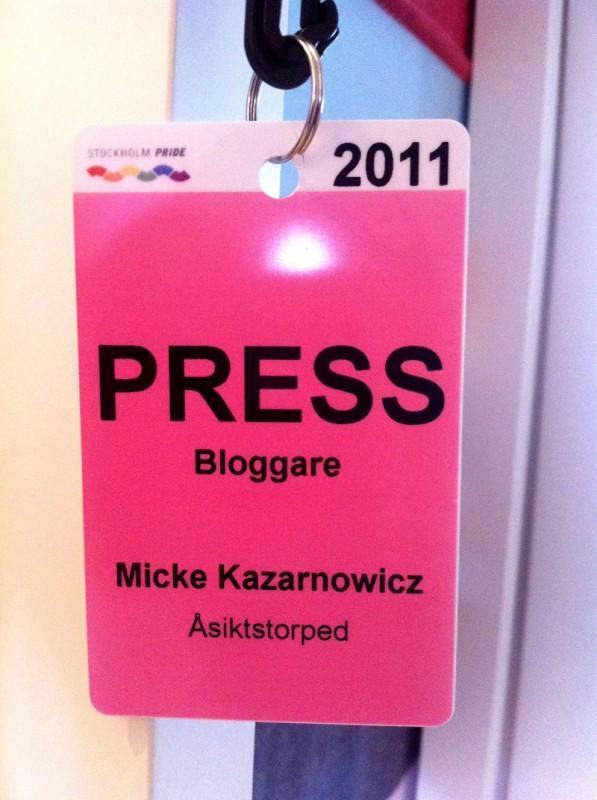 Pressackreditering till Stockholm Pride