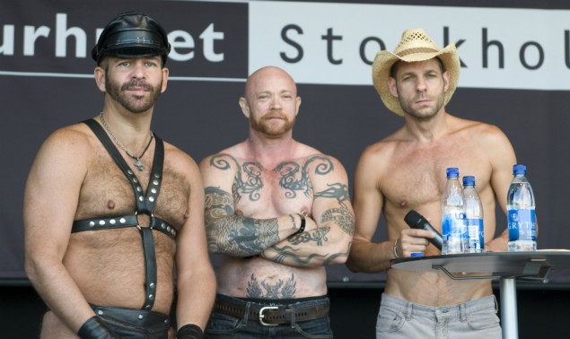 Scott Spears, Buck Angel och Michael Brandon på Porn Star Talk på Pride Sergel