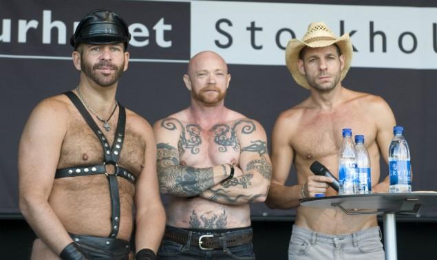 Scott Spears, Buck Angel och Michael Brandon på Porn Star Talk på Pride Sergel