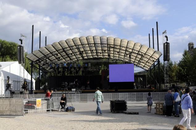 Stora scenen 45 minuter innan invigningen