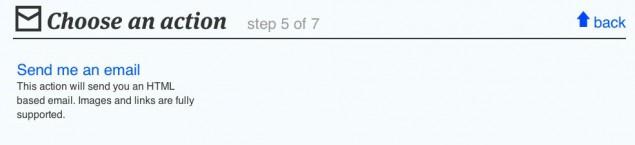 Skapa ett recept på IFTTT, steg 7