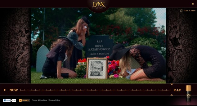 Screenshot från Lynx (AXE) kampanj Fastlife